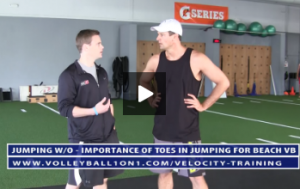 Importance of the Big Toe for Jumping in Beach Volleyball