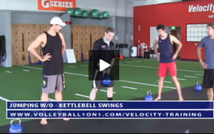 Kettlebell Swings, Gobler Squat, RDL Stretch, TRX - Y,T,W, Rows  - Velocity Workout 2 - Jump Day (Video 1)