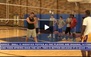 Modified On the Net Pepper Volleyball Drill with 3 Players  - Multi Skill - Day 2 - Uni High