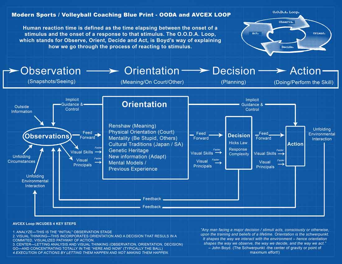 Modern Volleyball Coaching Blueprint - OODA and AVCEX Loop