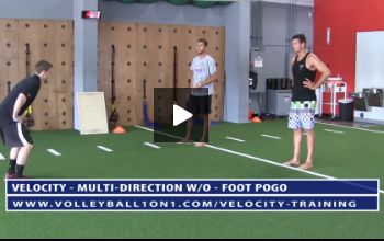 Pogo Volleyball Exercise Drills - Velocity Workout 3 - Multi-Directional