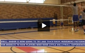 Progressions on the 2 Drills - Serving and Passing Drill and Teaching Middles Movement Patterns Drill