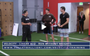 Run Without Weights Exercise - Velocity Volleyball Workout 1 - Linear