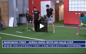 Sumo Squat Touchdown and Series of Runs with No False Step - Velocity Volleyball Workout 1 - Linear