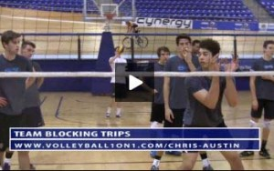 Team Volleyball Blocking Trips with Chris Austin