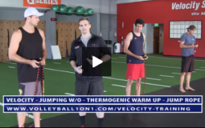 Thermogenic Warm Up - Jump Rope, Lunge and Reach, Reverse Lunge Twist,  - Velocity Workout 2 - Jump Day