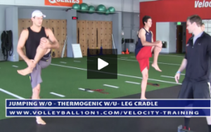 Thermogenic Warm Up - Jump Rope, Shallow Squat Knee Hug, Leg Cradle, Dynamic Quad Stretch,   - Velocity Workout 2 - Jump Day