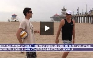 Triangle Warm Up Drill with Pedro Brazao - The Most Used Drill in Beach Volleyball