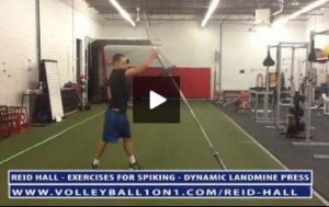 Volleyball Exercises for Spiking Harder - Landmine Press - Reid Hall