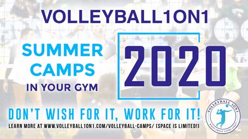 Volleyball1on1 Summer Camps 2020