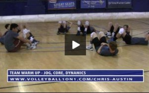 Volleyball Warm Up Exercises and Drills - Jog, Core, Dynamics with Chris Austin