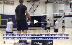 Wes Schneider - Servers vs. Passers Volleyball Drill - Round 2